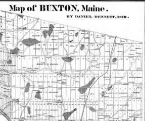 map of buxton maine Maine Boundary Consultants Records And Archives Of Proprietors map of buxton maine